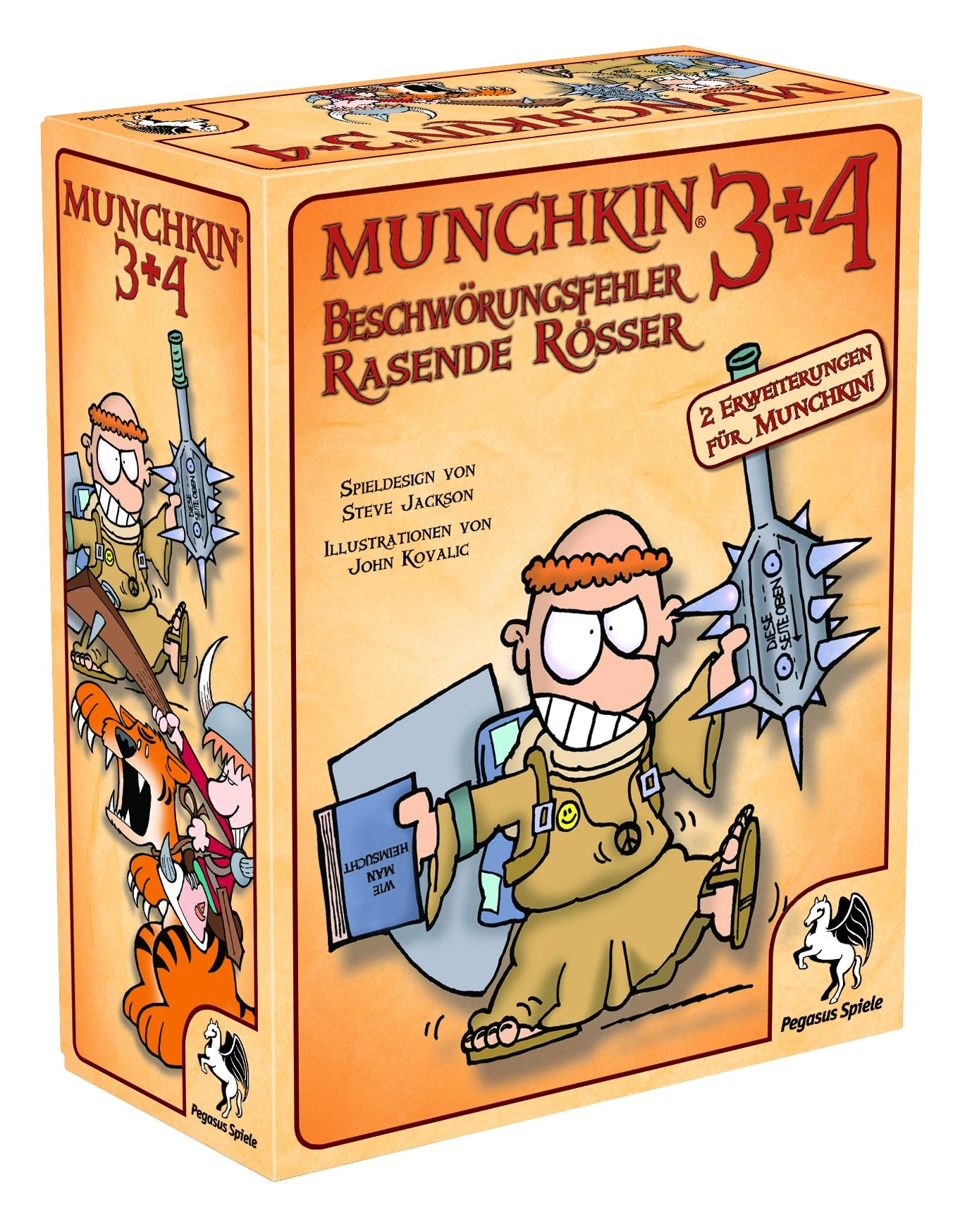 Munchkin 3+4 / Munchkin (Pegasus Spiele) - Spielladen Spielbude.ch